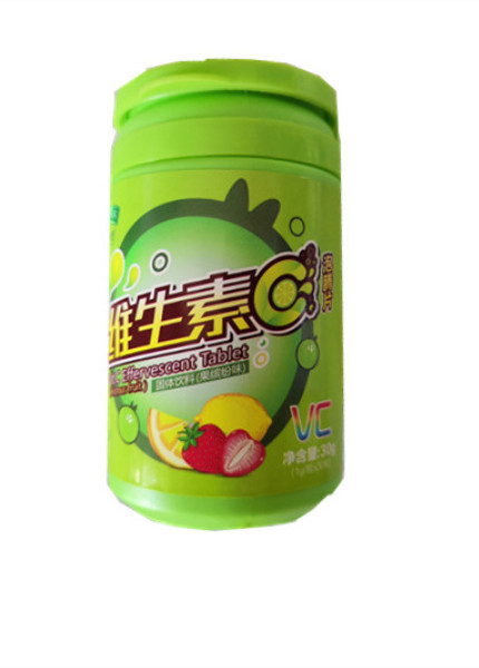 Vitamin C effervescent tablets (mixed fruit flavor)